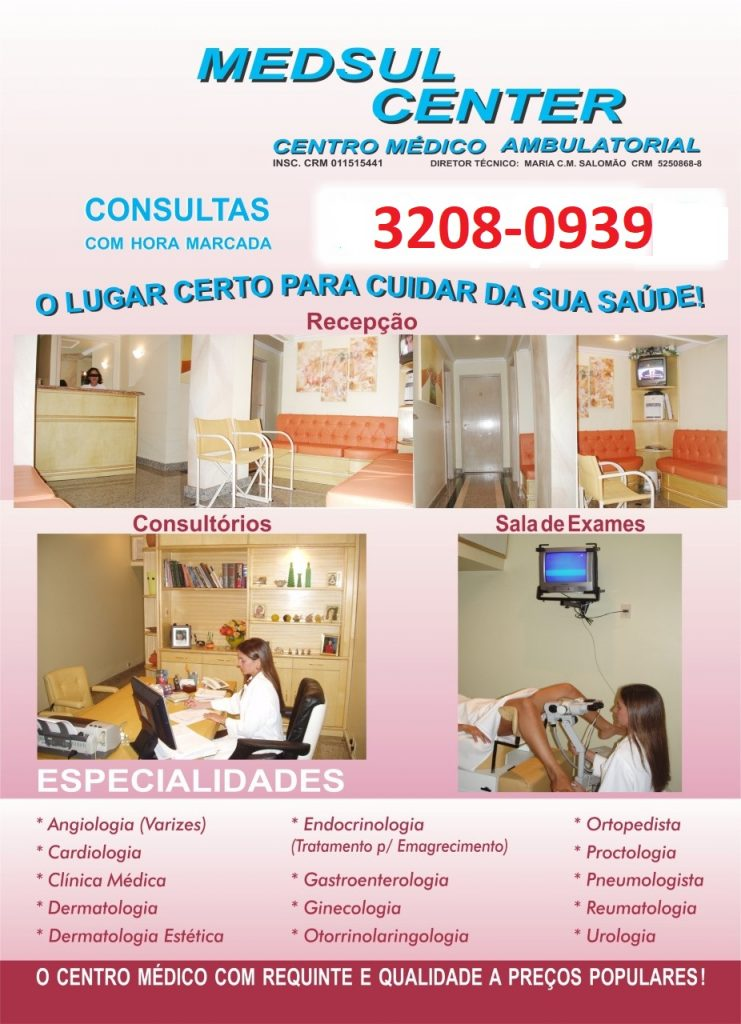 Clinica Médica Popular MedSul Center Av Ns Sra de Copacabana 807 Sala 1204 Copacabana